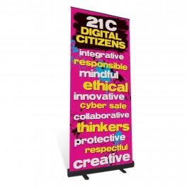 Digital Citizen Values Roll Up Banner