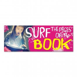 Reading Surf the Pages Wall Graphic