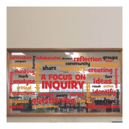 Focus On Inquiry Vinyl Lettering