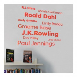 Authors Word Wall Vinyl Lettering