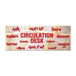 Circulation Desk Wall Graphic Sticker (News Design)