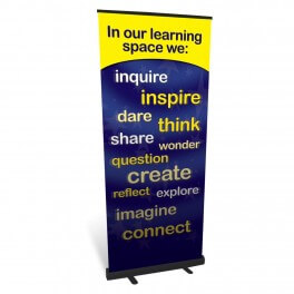 Our Learning Space Roll Up Banner