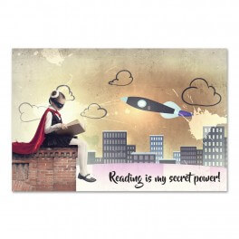 Reading Is My Secret Power Wall Graphic Mural