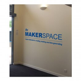 The Makerspace Vinyl Lettering