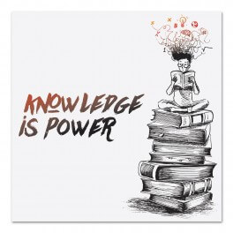 Knowledge Is Power Wall Graphic Sticker