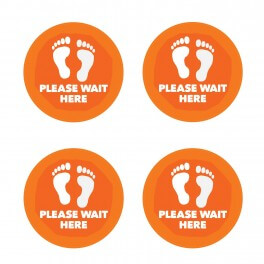 Please Wait Here Floor Stickers