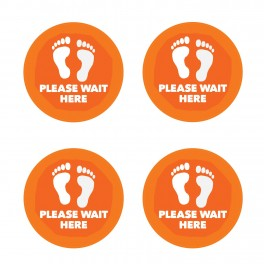 Please Wait Here Wall Graphics