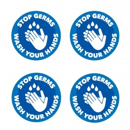 Stop Germs Wash Your Hands Floor Stickers