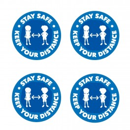 Stay Safe Keep Your Distance Floor Stickers