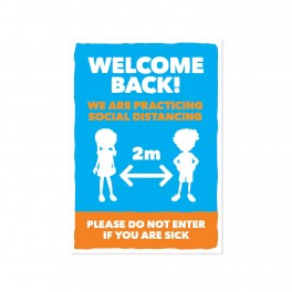 Welcome Wall Graphic A3 Junior