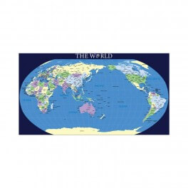 World Map (New) Wall Graphic Mural