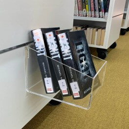 Slatwall Acrylic Book Box