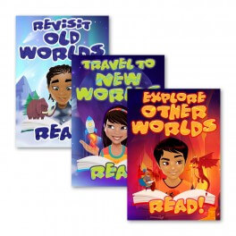 Reading Rewards Wall Graphic Stickers (Set of 3) Set 7