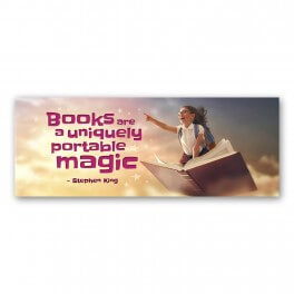 Books are Uniquely Portable Wall Graphic