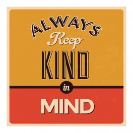 Keep Kind In Mind Wall Graphic Sticker