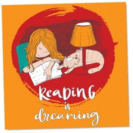Reading Is Dreaming Cat Wall Graphic Sticker