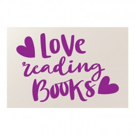 Love Reading Books Vinyl Lettering