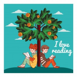 I Love Reading Wall Graphic Sticker