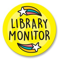 Library Monitor Stickers (Junior) (25)
