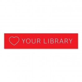 Love Your Library Banner 295mm x 1200mm