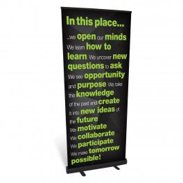 In This Place Banner Roll Up Banner