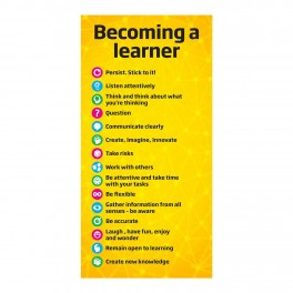 Becoming a Learner Banner Adhesive Door Graphic Sticker