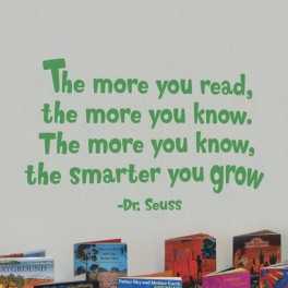 The Smarter You Grow Vinyl Lettering