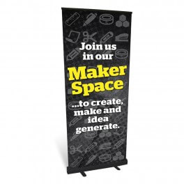 Makerspace Location Roll Up Banner
