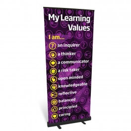 My Learning Values Roll Up Banner
