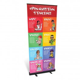 Open Question Starters Roll up Banner