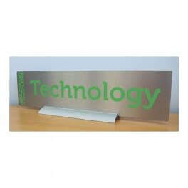 Freestanding Silver Sign Holder