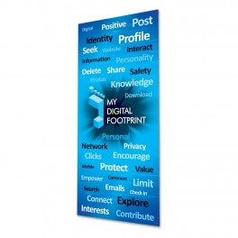 My Digital Footprint Adhesive Door Graphic