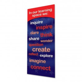 Our Learning Space Door Graphic (Red)