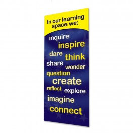 Our Learning Space Door Graphic (Yellow)