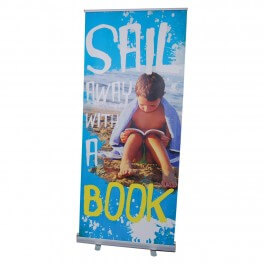 Sail Away With a Book Roll Up Banner