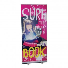 Surf the Pages of a Book Roll Up Banner
